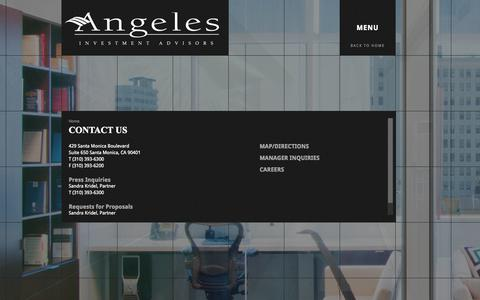 Screenshot of Press Page angelesadvisors.com - Angeles Investment Advisors | Angeles constructs exceptional portfolios for some of the world's most forward-thinking clients - captured Oct. 4, 2014