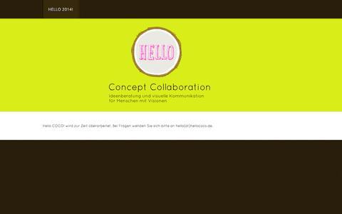 Screenshot of Home Page hello-coco.de - Hello COCO - Hello 2014! - captured Sept. 29, 2014