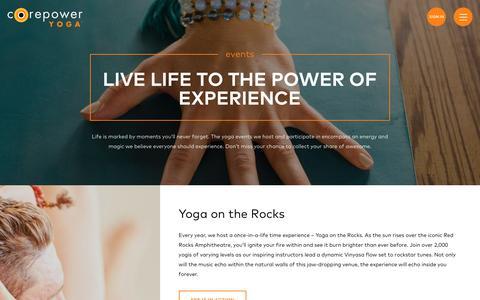 Yoga Events | CorePower Yoga