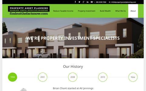 Screenshot of About Page propertyassetplanning.com - Property Asset Planning – Property Investment Made EasyAbout Us - Property Asset Planning - Property Investment Made Easy - captured Sept. 30, 2014