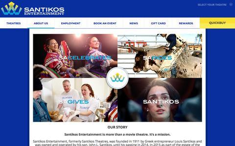 Screenshot of About Page santikos.com - About Us | Santikos Entertainment in San Antonio, Texas - captured Sept. 22, 2018