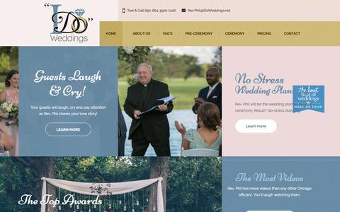 Screenshot of Home Page idoweddings.net - Chicago Wedding Officiant Rev Phil Landers | I Do Weddings Ltd | Chicago Wedding Officiant - captured Oct. 18, 2018