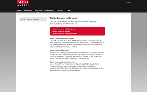 Screenshot of Services Page strictmobile.de - STRICTmobile | STRICTmobile Services - captured Oct. 3, 2014