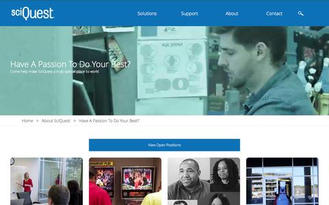 Screenshot of Jobs Page sciquest.com - Careers   SciQuest - captured Nov. 10, 2015