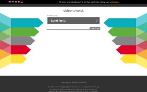 Screenshot of Home Page oldbond.co.uk - oldbond.co.uk - captured Nov. 15, 2018