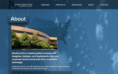 Screenshot of About Page newground.com - About | Welcome to NewGround - captured Sept. 23, 2014