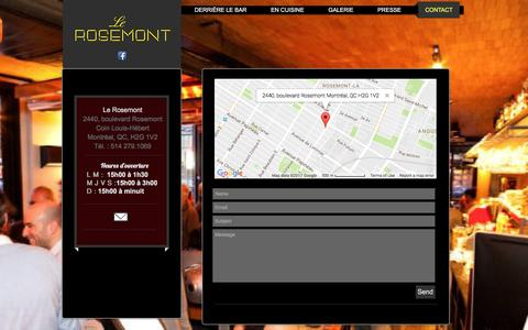 Screenshot of Contact Page lerosemont.net - Le Rosemont | CONTACT - captured March 23, 2017