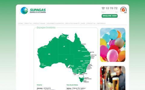 Screenshot of Maps & Directions Page supagas.com.au - Supagas Australia » Supagas locations - captured Sept. 21, 2018
