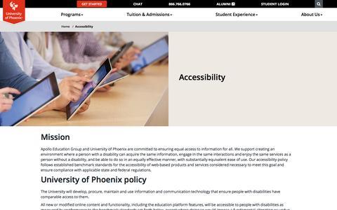 Accessibility - University of Phoenix