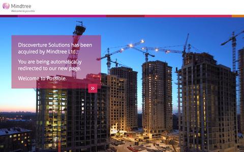 Screenshot of Home Page mindtree.com - Insurance Software Solutions | Mindtree - captured Sept. 12, 2015