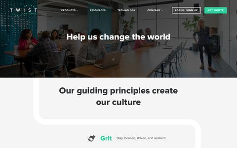 Screenshot of Jobs Page twistbioscience.com - Join Twist Bioscience and Help Change the World - captured Nov. 4, 2018