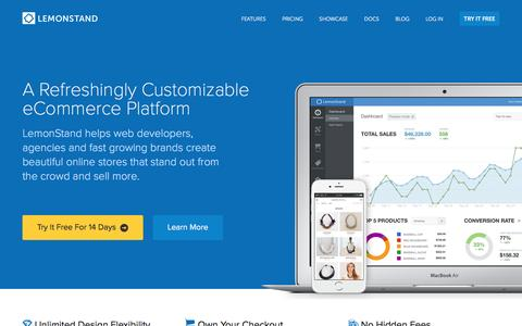 Screenshot of Home Page Login Page lemonstand.com - The Best Cloud eCommerce Platform for Developers, Agencies and Fast Growing Stores | LemonStand - captured Aug. 29, 2016