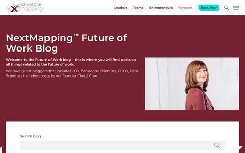 Screenshot of Blog nextmapping.com - NextMapping | The Future of Work Blog - captured Sept. 29, 2018