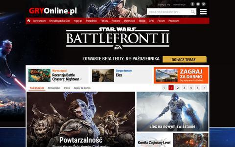 GRY-OnLine.pl - Gry Online dla wszystkich, Gry Komputerowe, Gry na Konsole, Darmowe Gry - wszystko o grach | GRYOnline.pl