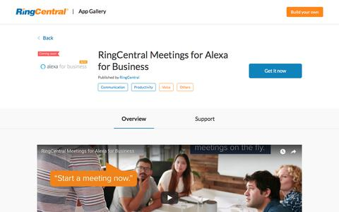 RingCentral Meetings for Alexa for Business | RingCentral App Gallery