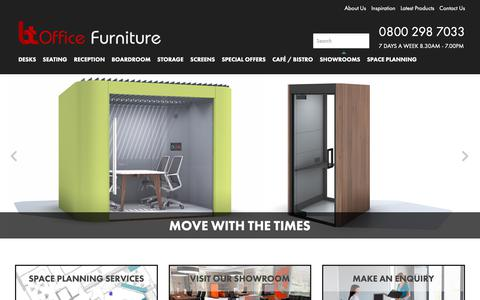 Screenshot of Home Page btoffice.co.uk - BT Office Furniture - Contemporary & Modern - Amazing Range - captured Oct. 24, 2018