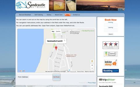 Screenshot of Maps & Directions Page thesandcastle.co.za - Map - captured Nov. 18, 2016