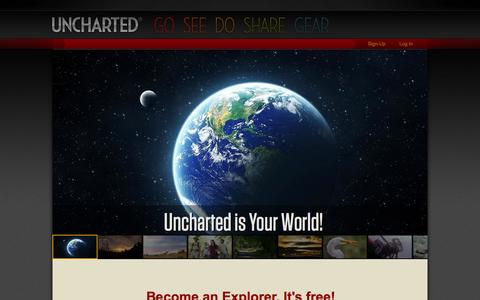 Screenshot of Signup Page uncharted.net - Uncharted - captured Oct. 29, 2014
