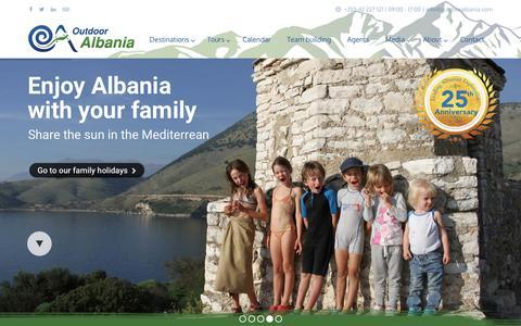 Screenshot of Home Page outdooralbania.com - Outdoor Albania | Specialist incoming tour operator of Albania - captured Dec. 6, 2016