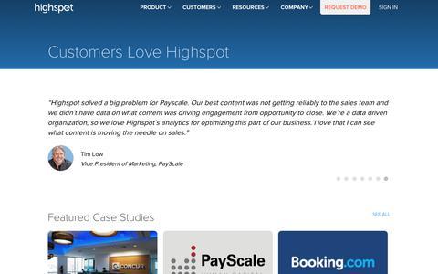 Sales Enablement Customer Testimonials - Highspot