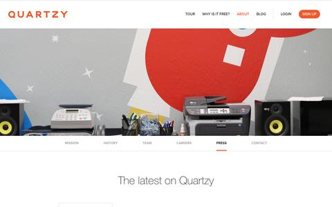 Screenshot of Press Page quartzy.com - Quartzy | The free and easy way to manage your lab inventory and order requests. - captured Jan. 10, 2017