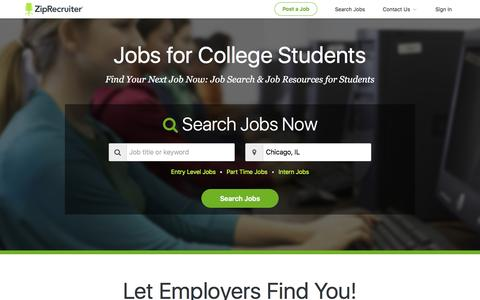 Jobs for College Students: Summer Jobs, Online Jobs, & More | ZipRecruiter