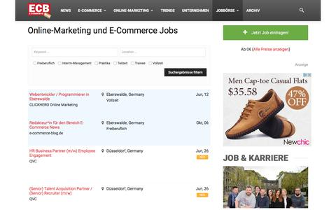 Screenshot of Jobs Page e-commerce-blog.de - E-Commerce und Online Marketing Jobs | - captured June 26, 2017