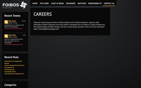 Screenshot of Jobs Page foibosdesign.com - careers - foibosdesign - captured Sept. 30, 2014