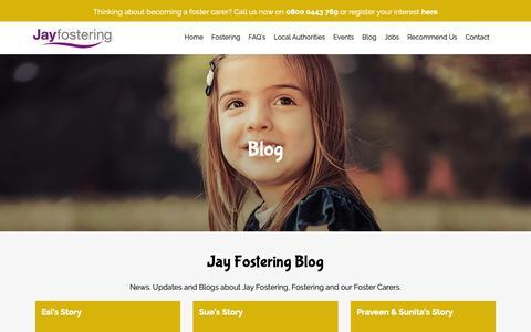 Screenshot of Blog jayfostering.com - Updates // Jay Fostering - captured Oct. 13, 2018