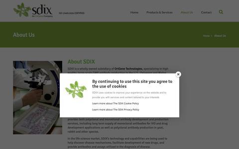 Screenshot of About Page sdix.com - About Us | SDIX, LLC - captured Oct. 1, 2018