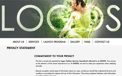 Screenshot of Privacy Page logosfashionservice.com - Privacy Statement - Best Low Volume Apparel Manufacturer In Vietnam For Start-Up Fashion Designers | Logos Fashion Service - captured Sept. 30, 2014