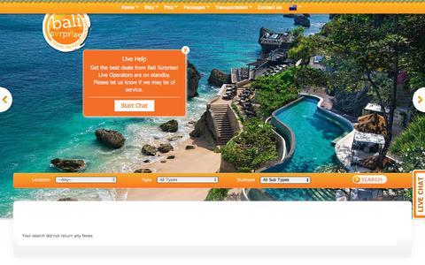 Screenshot of Press Page balisurprise.com - Bali Package Bali Surprise - captured Aug. 1, 2018