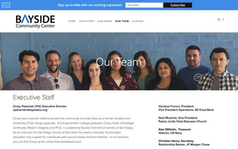 Screenshot of Team Page baysidecc.org - Our Team — Bayside Community Center - captured Nov. 20, 2018