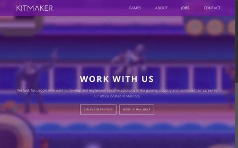 Screenshot of Jobs Page kitmaker.com - Job Vacancies   KITMAKER - captured Oct. 17, 2017
