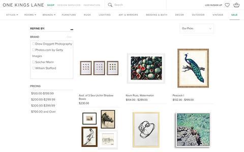 Art                 -                              Sale by Category                 -                              Sale                                           One Kings Lane