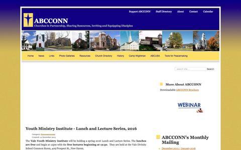 Screenshot of Press Page abcconn.org - News - captured Feb. 6, 2016