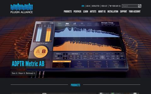 Screenshot of Home Page plugin-alliance.com - M/S Mastering Tools & Audio Plugins - Plugin Alliance - captured Oct. 13, 2018