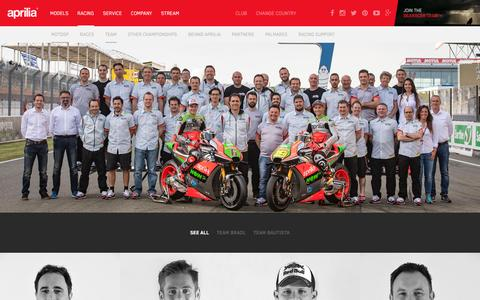 Screenshot of Team Page aprilia.com - Team - Aprilia - captured June 3, 2016