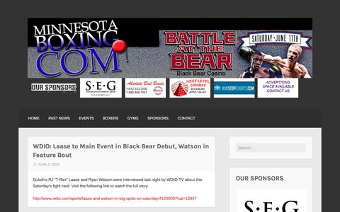 Screenshot of Home Page minnesotaboxing.com - MinnesotaBoxing.com – Est. 2003 - captured June 8, 2016