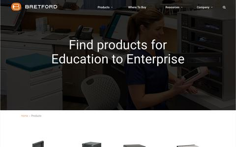 Screenshot of Products Page bretford.com - Products | Bretford - captured Aug. 3, 2018