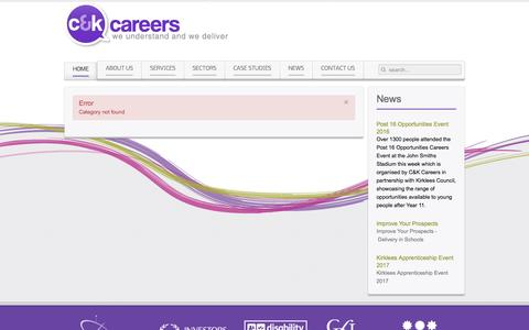 Screenshot of Terms Page ckcareers.co.uk - C&K Careers corporate site - captured May 10, 2017