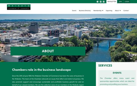 Screenshot of About Page waikatochamber.co.nz - About | Waikato Chamber of Commerce - Waikato Chamber of Commerce - captured Nov. 10, 2017