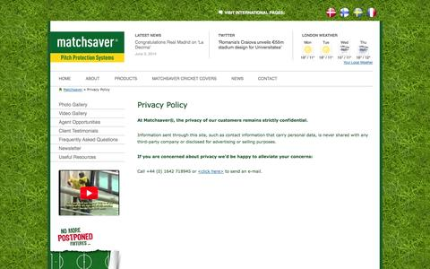 Screenshot of Privacy Page matchsaver.com - Privacy Policy | Matchsaver - captured Oct. 27, 2014
