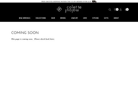 Screenshot of Team Page colettemalouf.com - Coming Soon - Colette Malouf - captured Sept. 29, 2018