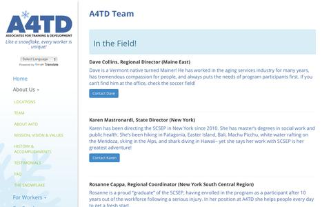 Screenshot of Team Page a4td.org - A4TD Team - A4TD - captured May 24, 2018