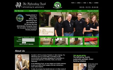 Screenshot of About Page therefinishingtouch.com - Furniture Refinishing, Furniture Restoration, Contract Furniture, Reupholstery – About Therefinishingtouch.Com - captured Sept. 30, 2014