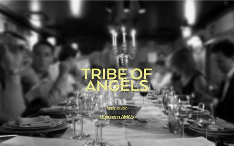 Screenshot of Home Page tribeofangels.com - TRIBE OF ANGELS - captured Aug. 15, 2015
