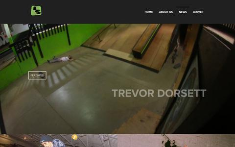 Screenshot of Press Page landslidesk8.com - News – Landslide Skate Park LLC, Michigan - captured Sept. 27, 2018