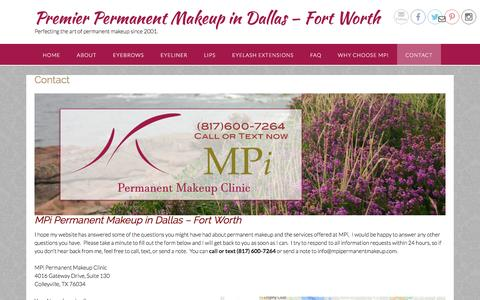 Permanent Makeup Dallas - Fort Worth, Contact MPi