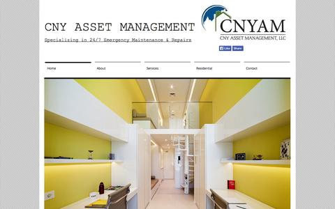 Screenshot of Home Page cnyassetmanagement.com - CNY Asset Management - captured Oct. 1, 2014